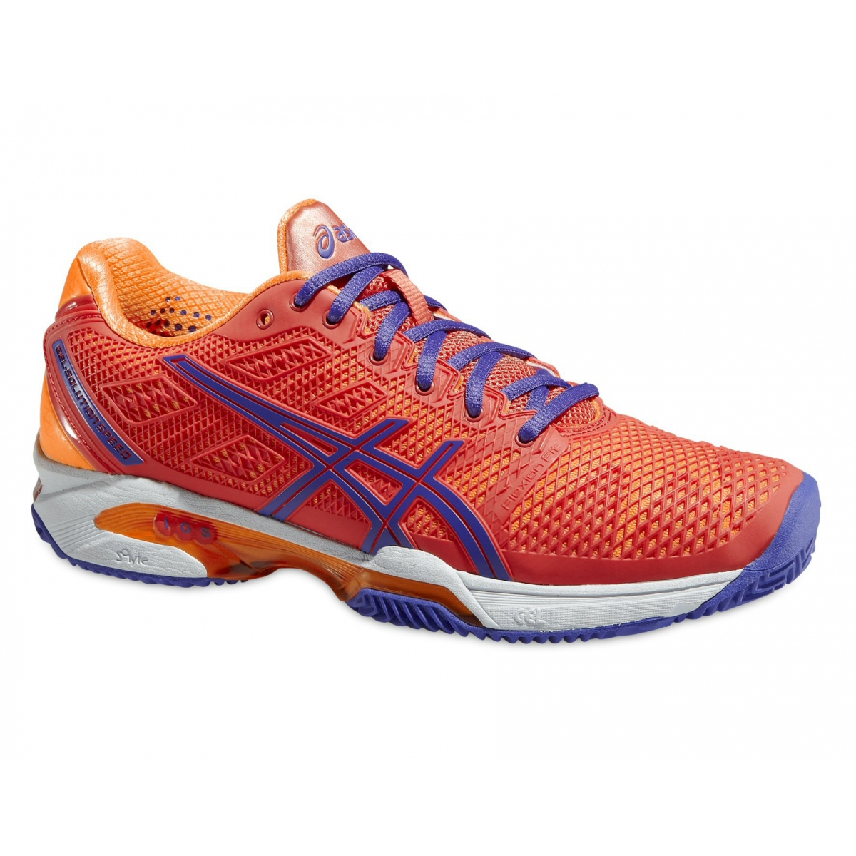 Asics Gel Solution Speed 2 Clay koralle Tennisschuhe Damen