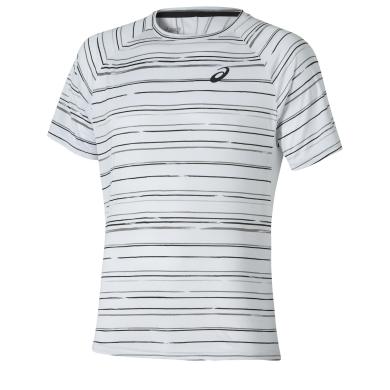 Asics Tshirt Club Graphic weiss/schwarz 0103 Herren (Größe XXL)