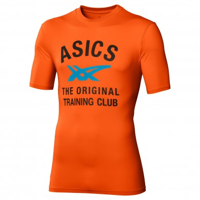 Asics Tshirt Performance Print 2014 orange Herren (Größe XXL)