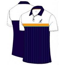 Australian Tennis-Polo Ace gestreift #20 navy/weiss Herren