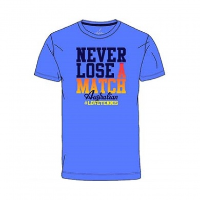 Australian Tshirt Never Lose 2017 blau Herren