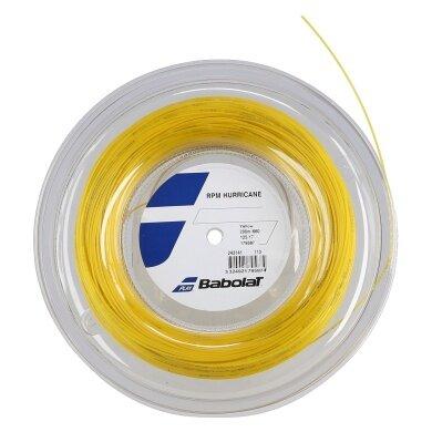 Babolat Tennissaite RPM Hurricane (Haltbarkeit+Spin) gelb 200m Rolle