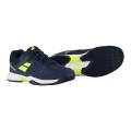 Babolat Pulsion Clay 2017 blau/gelb Tennisschuhe Kinder