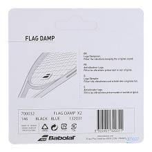 Babolat Schwingungsdämpfer Flag Damp blau/schwarz 2er