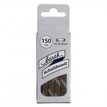 Barth Schnürsenkel Bergsport halbrund braun/grau 150cm