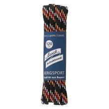 Barth Schnürsenkel Bergsport halbrund schwarz/orange/rot/weiß 120cm
