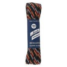 Barth Schnürsenkel Bergsport halbrund schwarz/rot/orange/weiß 180cm