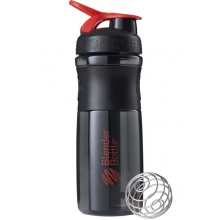BlenderBottle Trinkflasche Sportmixer Grip Black Fashion 820ml schwarz/rot