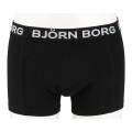 Björn Borg Boxer Short Solids 2017 schwarz/schwarz Herren 2er