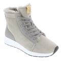 BNSM Sneaker Ms. Snug High - 100% Merino Schaffell, gefüttert - grau Damen