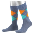 Burlington Tagessocke King SO hellblau/mint/orange Herren 1er