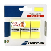 Babolat VS Original 0.4mm Overgrip 3er gelb
