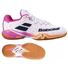 Babolat Shadow Tour 2021 weiss/pink Stabil-Badmintonschuhe Damen