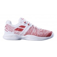 Babolat Propulse Blast Carpet 2018 weiss/rot Indoor-Tennisschuhe Damen