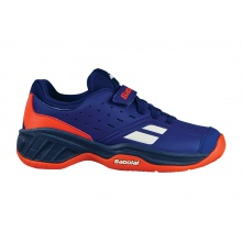 Babolat Pulsion Allcourt Klett 2018 blau/orange Tennisschuhe Kids