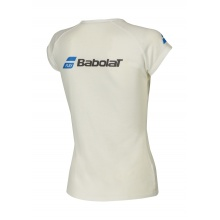 Babolat Shirt Core Logo 2018 weiss Girls