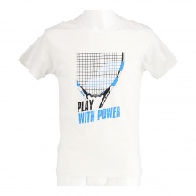 Babolat Tshirt Core Pure Drive weiss Boys