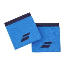 Babolat Schweissband Logo Handgelenk blau - 2 Stück