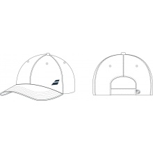 Babolat Cap Basic Logo 2017 Junior weiss