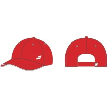 Babolat Cap Basic Logo 2017 Junior rot