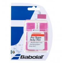 Babolat Pro Team Tacky THIN Overgrip 3er pink