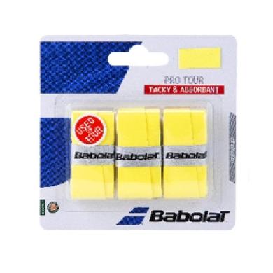Babolat Overgrip Pro Tour (Komfort) 0.6mm gelb 3er