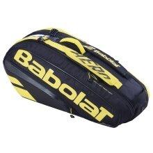 Babolat Racketbag (Schlägertasche) Pure Aero gelb/schwarz 6er - 2 Hauptfächer