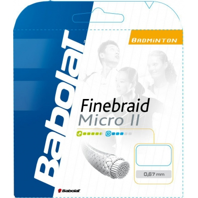 Besaitung mit Babolat Finebraid 2 Micro weiss