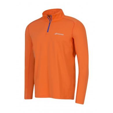 Babolat Longsleeve Match Core 1/2 ZIP 2016 orange Herren