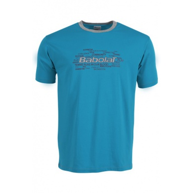 Babolat Tshirt Training Core 2016 blau Herren