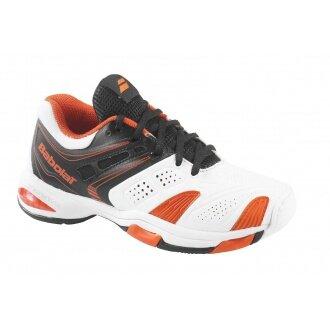 Babolat V Pro Allcourt 2 weiss/orange Tennisschuhe Kinder (Größe 32)