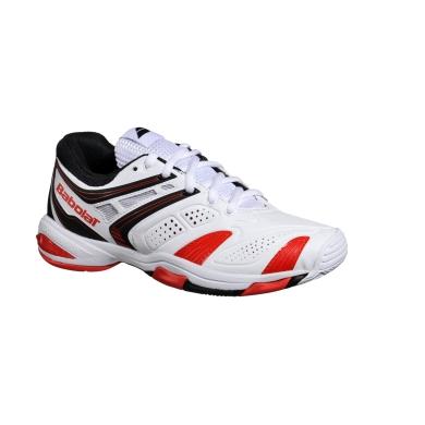Babolat V Pro Allcourt 2 weiss/rot Tennisschuhe Kinder