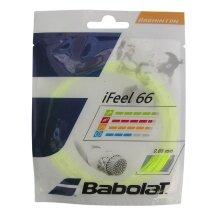 Besaitung mit Babolat iFeel 66 gelb