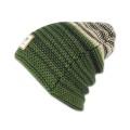 Djinns Beanie Berber Stripe grün/schwarz/sand