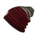 Djinns Beanie Berber Stripe rot/schwarz/sand