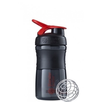 BlenderBottle Trinkflasche Sportmixer Grip 590ml schwarz/rot