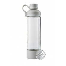 BlenderBottle Trinkflasche Mantra Glass 600ml weiss/grau