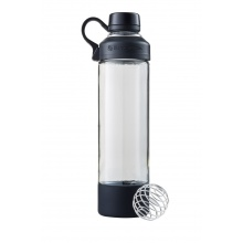 BlenderBottle Trinkflasche Mantra Glass 600ml schwarz
