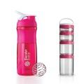 BlenderBottle Combo Pack (Sportmixer 820ml+GoStak Starter) pink
