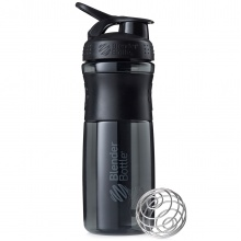BlenderBottle Trinkflasche Sportmixer Grip Black Fashion 820ml schwarz/schwarz