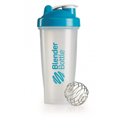 BlenderBottle Trinkflasche Classic 820ml transparent/aqua