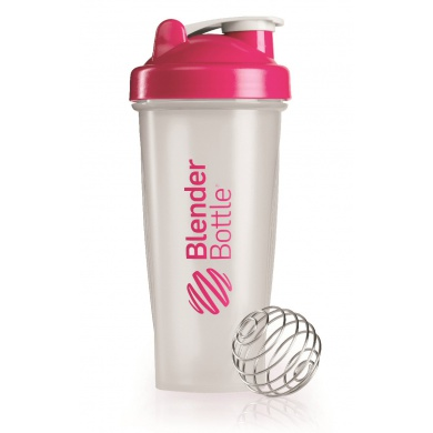 BlenderBottle Trinkflasche Classic 820ml transparent/pink