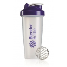 BlenderBottle Trinkflasche Classic 820ml transparent/purple