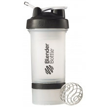 BlenderBottle Trinkflasche ProStak 650ml transparent/schwarz