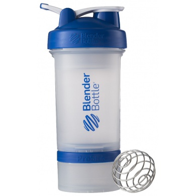 BlenderBottle Trinkflasche ProStak 650ml transparent/blau