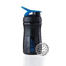 BlenderBottle Trinkflasche Sportmixer Grip 590ml schwarz/blau