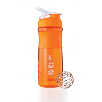 BlenderBottle Trinkflasche Sportmixer Grip 820ml orange/weiss