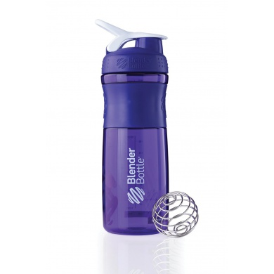 BlenderBottle Trinkflasche Sportmixer Grip 820ml purple/weiss