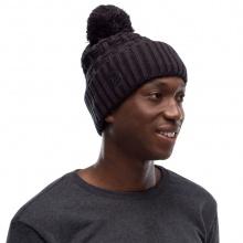 Buff Mütze (Bommel) Strick & Polar Airon schwarz