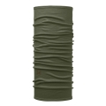 Buff Multifunktionstuch Merinowolle Lightweight Solid dunkelgrün Herren/Damen